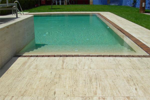 Borde de piscina marfesa - Piscinas de piedra ...